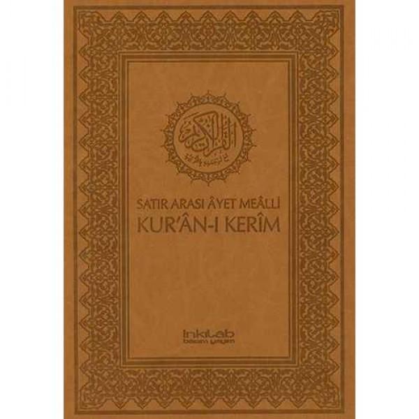 Satır Arası Âyet Meâlli Kur'ân-ı Kerîm (KÜÇÜK BOY 13,5 x 20, LÜKS CİLT)