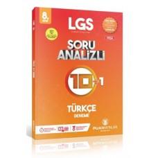 Puan Yayınları 8. Sınıf LGS Türkçe Soru Analizli 10 Artı 1 Deneme-YENİ
